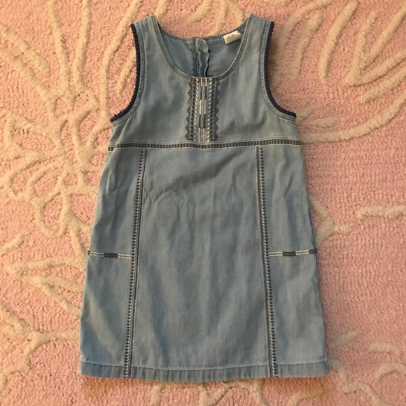 fa21c88525a GAP Other - Baby Gap Girls Chambray Embroidered Romper 3T